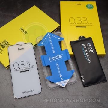 Dán cường lực iPhone 13 Promax - Hoda 0.3mm Full viền đen
